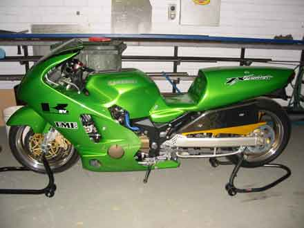 ZAP Racing Drag Bike In Workshop