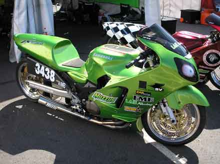 ZAP Racing ZX12 Drag Bike Profile shot